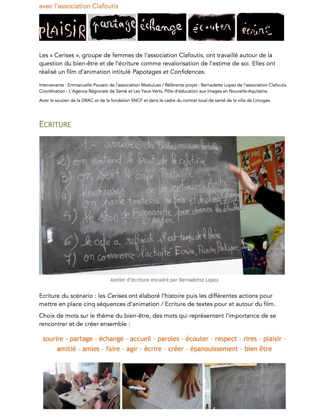 Ateliers Clafoutis 1